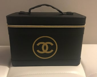 chanel inspired bags. cosmetic travel bag - designer inspired chanel bags
