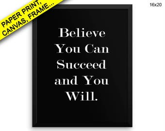 Believe In Yourself Wall Art Framed Believe In Yourself Canvas Print Believe In Yourself Framed Wall Art Believe In Yourself Poster Decor