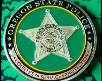 State Police Trooper Law Enforcement Challenge Art Coin - PICK YOUR STATE