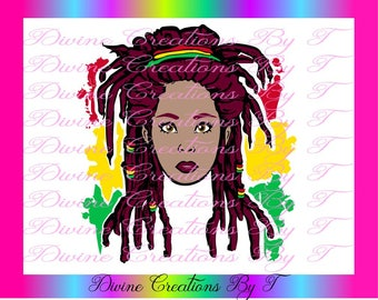 Rasta Queen ( SVG, DXF EPS ) (made by me)