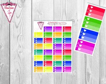 Printable To Do Half Box Checklists - Bright Colors
