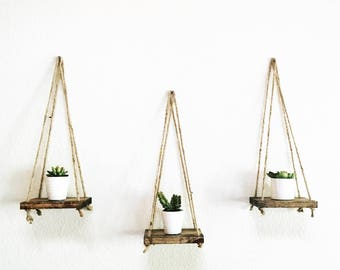 Miniature shelf, Succulent self, Rustic shelf, Hanging shelf, Plant shelf, Floating shelf, Tiny shelf, Wall hanging, Wall decor, House gift
