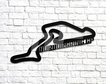 Nurburgring GP Race Track Wall Art