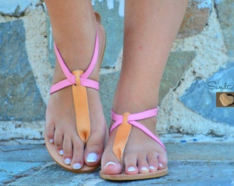 Greek leather sandals, Greek handmade leather sandals,Ankle strap leather sandals,Strappy summer sandals,Women leather sandals, FLORENCE
