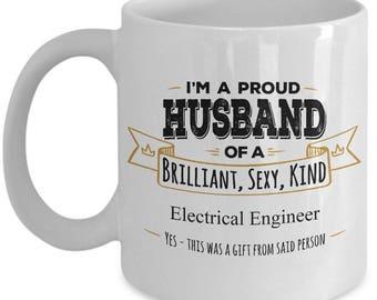 Gift for Electrical Engineer, Electrical Engineer Mug, Husband Coffee Mug,Birthday Gift,Anniversary Gift, Wife to Husband gift, Husband Gift