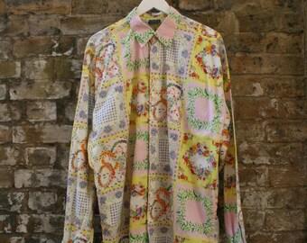 Gianni Versace Versus Shirt Patchwork Print XL 50