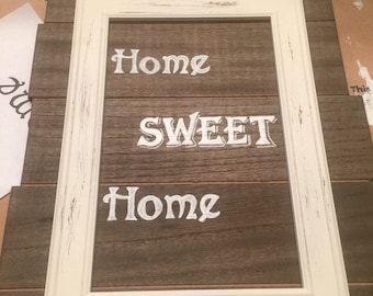 Home sweet home wood pallet board