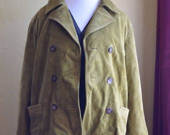 Chartreuse Suede Jacket