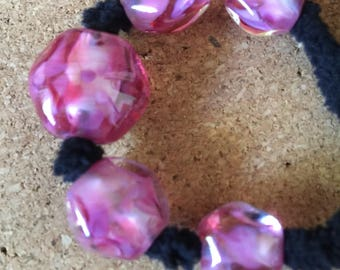 Princess OOAK Lampwork glass bead set MAG