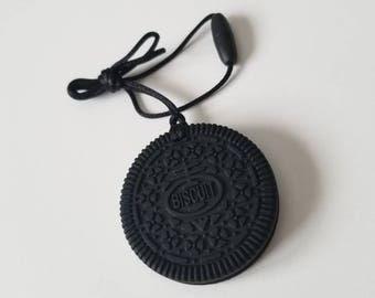 Oreo Teether, Silicone Oreo Cookies, Black Cookie
