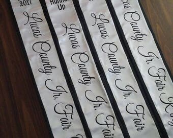 Pageant Sash Full Embroidered