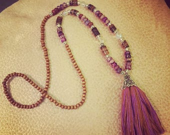 Purple handmade necklace