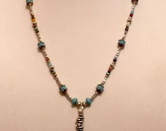 Multi-Color Czech Glass Bead Necklace