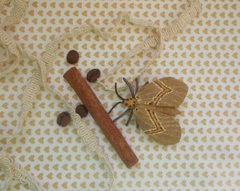 Natural suede Brooch,Brown moth,Leather Butterfly,brown butterfly,Leather anniversary,Brooch boho,Butterfly for dress,Butterfly Accessories