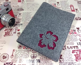 Fabric Planner Cover, Felt Cover A5, Felt Journal Refillable, Notebook Journal, Reusable Notebook Case, Floral Tracery, Journal Cover