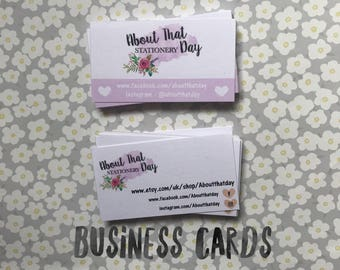 Business cards for small businesses/stationery for business