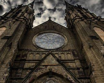 Dark Abandoned Church Digital Download