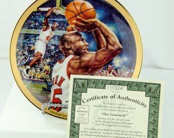 Upper Deck Limited Edition Michael Jordan The Comeback Collectors Plate