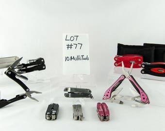 10 Multi Tool Lot # 77 Folding Knives Cabelas + More