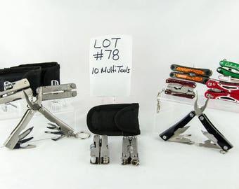 10 Multi Tool Lot # 78 Folding Knives Cabelas + More
