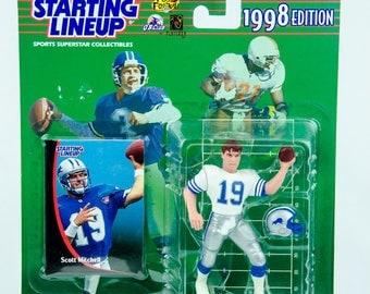 Starting Lineup 1998 NFL Scott Mitchell Action Figure Detroit Lions