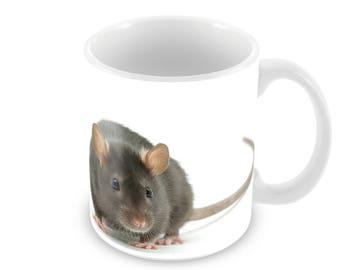 Rat Ceramic Coffee Mug    Free Personalisation