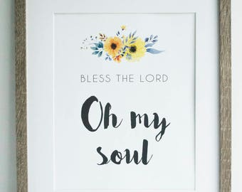 Bless the Lord, Oh My Soul (INSTANT DOWNLOAD)
