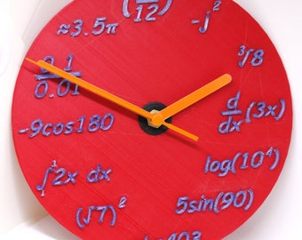 3d Printed Maths Clock. Designed and Manufactured by DIM3NSION 3D Printing. Range of colours available.