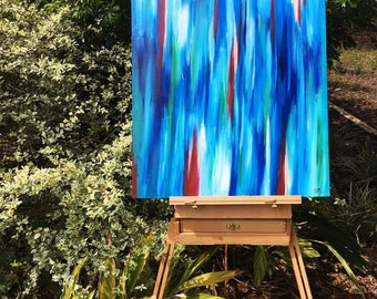 Abstract Ocean Inspired Painting
