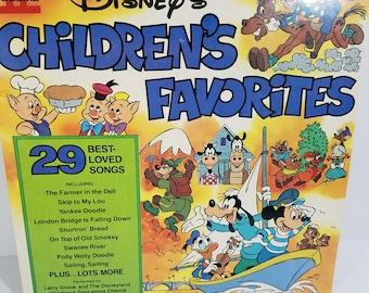 Vintage Disneys Childrens Favorites Best Loved Songs Vinyl Record Volume II