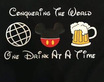 Conquering The World Food and Wine Shirt