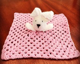 Handmade Bunny baby comforter!