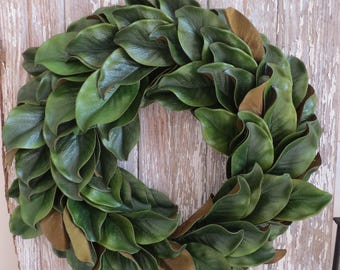Magnolia Wreath | Magnolia Leaf Wreath | Front Door Wreath | Front Door Decor - 103AHMW