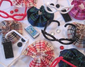 Littlest Pet Shop LPS 4 PC Clothes ACCESSORIES Grab Bag Nerd Glasses Custom Lot