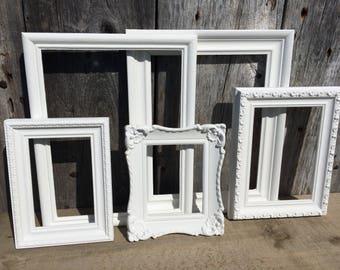 Decorative Frame Set, white frames, home decor, painted frames, nursery, home and garden