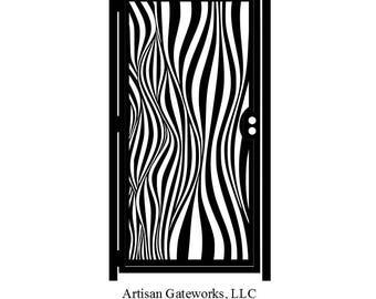 Fun House Art Gate - Decorative Steel - Optical Illusion - Steel Gate - Decorative Panel - Geometric  Gate - Steel Art Panel