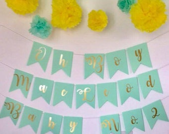 Customised Paper Banner/Bunting - Birthdays, Hen Parties, Baby Showers, Stag Nights and more!
