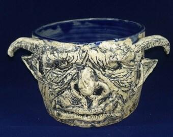 Monster Mug, ceramic, hand sculpture, food safe