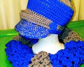 Bib Hat w/ Infinity Scarf