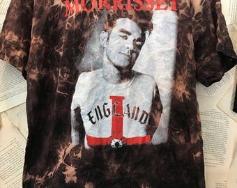 Morrissey acid washed band shirt