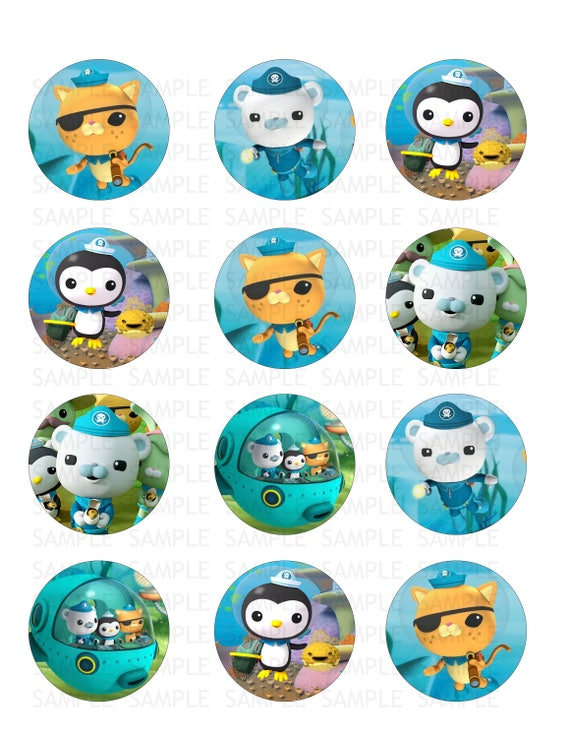 The Octonauts Edible Cupcake Toppers