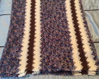 "Crochet Afghan, Handmade 54""x67"", FREE SHIPPING"