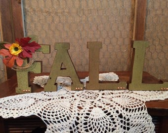 Fall Wooden Letters Shelf Sitter