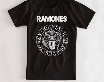Ramones Music Tshirt Screen Printed by Hand on AS Colour Shirt