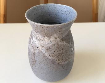 Blue Matte Ceramic Vase