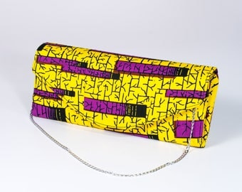 Ankara African print clutch bag made in Ibadan