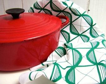 Pattern Screen Printed Tea Towel / Kitchen Towel