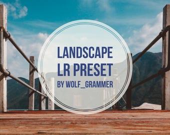 """Lightroom Preset """"Landscape preset"""" by wolf_grammer"""
