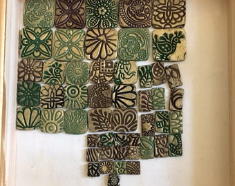 Polymer clay tiles: set of 50. MADE TO ORDER