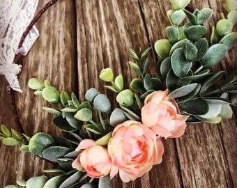 Flower Crown, Boho, Wedding Flower Crown, Bridal, Coral, Wedding, Kids, Floral Crown, Adult, Flowers, Boho Flower Wreath, Headband, Baby